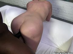 Rough interracial sex with the busty blonde Alexis Ford
