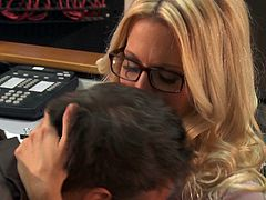 Jessica Drake is fucked in the office after a few drinks