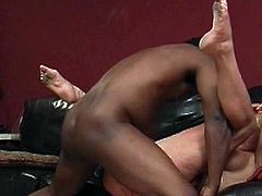 Slutty Dana Hayes enjoys tasty black cock deep in her juicy holes