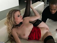 Blonde Michelle Moist enjoys guys beefy rock hard fuck stick in her warm mouth
