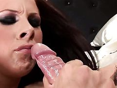 Redhead porn girl Gianna Michaels has some time to play with her wet spot