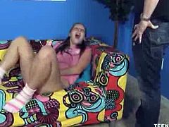 Teen Tugs brings you a hell of a free porn video where you can see how the cute brunette teen Zoe Rae is ready to give a great handjob while assuming very hot poses.
