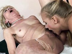 Blonde Barbie White and lesbian Margarette are horny for each other