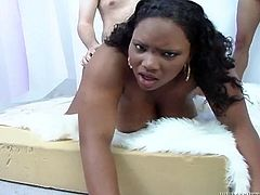 Have a look at this hardcore scene where the slutty BBW ebony babe is gangbanged by horny fellas in this great clip.