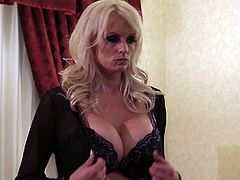 They just don't cum harder or hotter than Stormy Daniels! Big tits, dressed to kill, and she loves it rough! Choke her from behind, spread those legs wide and cum everywhere!