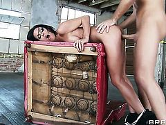 Kirsten Price blowing Keiran Lees meaty sturdy cock like mad before ass fucking