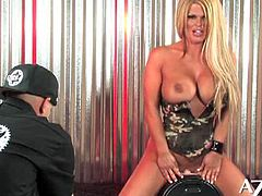 Busty blonde slut Sophia Rossi is ready to ride a sybian with her tight pink clam while flaunting her hot tits in this sexy solo video. She definitely knows how to put on a good show!