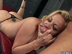 Adrianna nicole gags on cock while fingered