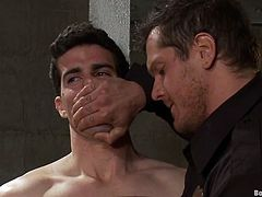 Insane BDSM action is on your screen! Two faggots love it in pain and one is going to dominate! So watch this amazing gay painsult!