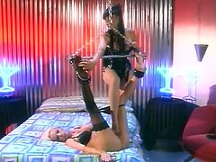 Dominate Lesbian with a Foot Fetishes Uses Her Slave