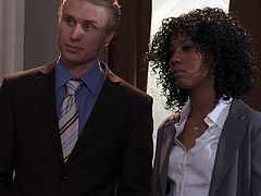 Attorney Misty Stone is fucked by her coworker in court