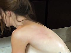 Brad Tyler gets his always hard cock used by Brunette Casana Lei