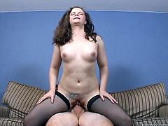 Make sure you have a look at this hardcore scene where the mature Lauren ends up with her ass covered by cum after being fucked by a big cock.