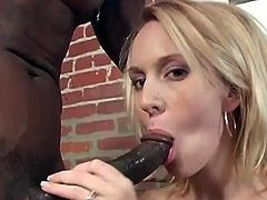 She is going to experience a damn hardcore orgasm today with a black fuck buddy of hers! She takes his thick cock in her mouth and then it gets her twat.
