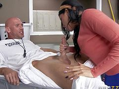 Romi Rain is the sexiest chick at school and dirty PE teacher Johnny Sins seduces her into fucking. Hottie in short skirt sucks his nice dick and then gets her tight pussy slammed. Blonde Kate Frost is the next.