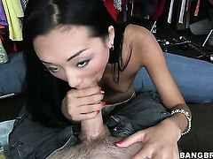Oriental Alina Li is not a whore but a porn star who loves fresh sperm so much