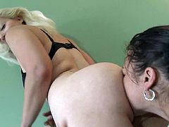 Slutty dolls are enjoying sexy ATM session during their lusty lesbian show