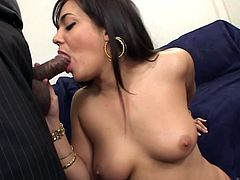 What are you waiting for? Watch this Indian babe, with big knockers wearing exotic clothes, while she goes hardcore with a lusty fellow.