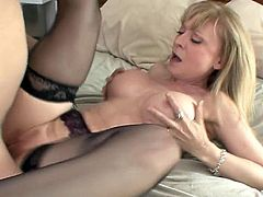 Busty mom feels eager to play naughty with her hot son in law