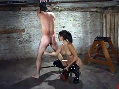 Shy Love Fingers the person And Tortures His penis close by Ropes