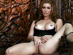 Heather Vandeven touches her moist honeypot after posing naked