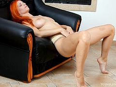 Check out this super-hot solo sex scene right here with this amazing fuckin' slut as she undresses and fondles her hot naked body.