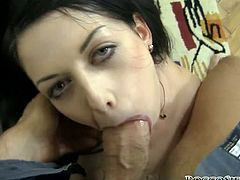 Long haired raven head whorish lassie with nice big button and sweet boobs greedily pounds her thirsting eating hole with tremendous wet penis of her fuck dawg. Look at this hot chick in Fame Digital sex clip!