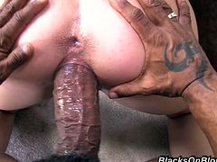 Talia Plamer Can Barely Fit that Cock in Her Mouth! Watch it Stretch her Holes!