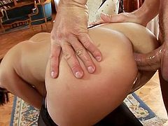 He destructs her ass with a strange tool which I've never seen before... She excites and gets her incredible wet poontang fucked hard in steamy Harmony Vision xxx video!