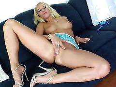 Sinfully sexy tramp Carla Cox strips down to her bare skin for your viewing entertainment