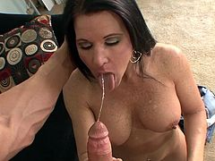 Amazing Kendra Secrets loves to suck and swallow after having her pussy nailed