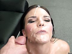 Mackenzee Pierce plays with Peter Norths sturdy love torpedo before she takes it in her mouth