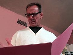 Curvy pigtailed ebony ladyboy shows off her big tits and her juicy cock. Shemale gives blowjob and gets her delicious asshole fucked in doggy and missionary positions.