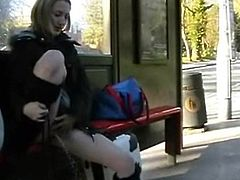 Sexy mature public nudity and open-air Tenderfoot flashing of Ayla having exhibitionist funtime outdoor