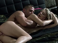 Magnificent Cayenne Klein sucks Totti's huge cock. Then she spreads her sexy legs and gets a pussy licked. Cayenne gets nailed in a missionary and a sideways positions.