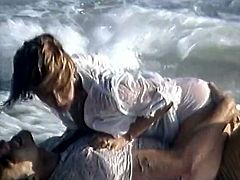 Light haired svelte hot tempered sweet bitch wanted to fuck immediately. Her guy wished the same. They stopped the car and reached stormy beach where they fell on removing clothes from each other... Watch this hot fuck starving freaks in The Classic Porn sex clip!