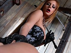 Sweeties are more into rough pleasures so they decides to masturbate in femdom action