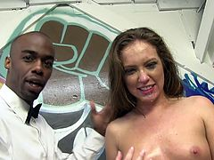 Dogfart with Maddy Oreilly! She is So Hot, Takes Three Big cocks!
