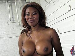 She really was fucked hard and there is a lot of cum all over her body! Kymora Lee will be whipping it off her sweet body!
