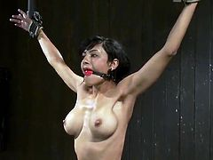 Mad tied act For black haired female Beretta James