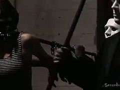 Amazing bdsm party gets out of control in this hot video set by sexually Broken. Watch the nasty brunettes getting bound and banged into spectacularly intense orgasms.