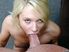Peter North uses his rock solid dick to bring blowjob addict Tegan Summers to the edge of nirvana