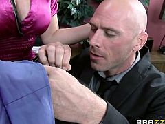 Alena Croft, Summer Brielle and Johnny Sins wanna get nasty. See how the two busty blonde milfs suck and ride their man's cock while also going lesbo together!