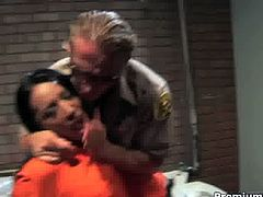 Being really bad girl Taylor Rain getting fucked in ass right in jail cell! She and her friend take it deep inside their horny holes!