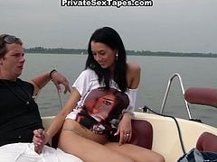 Long haired black head sultry hooker with big appealing booty had awesome fuck day with her guy on a boat. Her button hole will never forget that sea walk...Look at this hot fuck in WTF Pass sex clip!