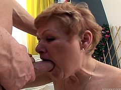 Make sure you get a load of this hardcore scene where this slutty granny gets fucked silly while wearing stockings.