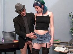 A gorgeous cutie sucks dick and gets her nice juicy pussy eaten out and fuckin' fucked in this hot-ass hardcore sex scene right here!