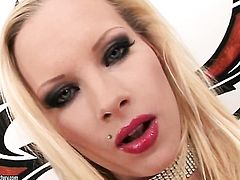 Blonde Gitta Blond has dildo-hungry vagina