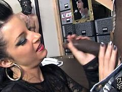 Hot tattoed slut Tori Lux is ready for some hardcore action with a huge black cock. Her tight pussy got totally destroyed, while her slave is coeverd in latex.