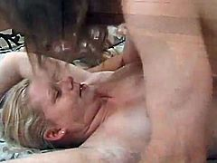 Sex addicted blonde woman gives a blowjob to make a guy as horny as possible. Then she gets fucked in different positions. It is hard to satisfy such a slut but this dude does a good job.